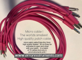 micro patch cable bag of 10