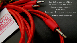 ERROR patch cables set of  10   size   100cm  XX long  RED