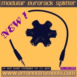 eurorack cv and audio  multiplier  6x