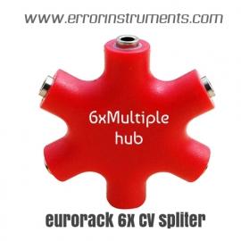 6 x channel  CV passive mult eurorack { MONO } voor eurorack