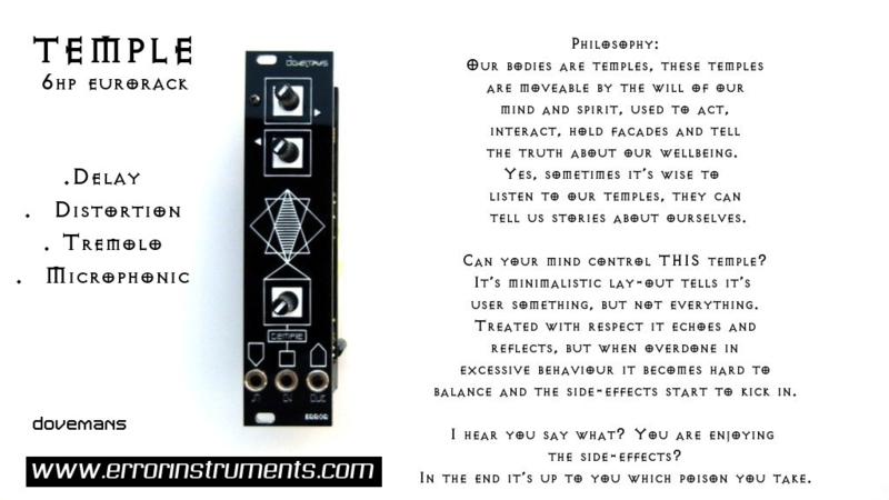 NEW ! Temple | ERROR-MODULAR | www errorinstruments com