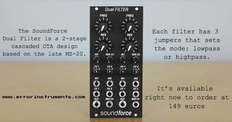 The SoundForce Dual Filter