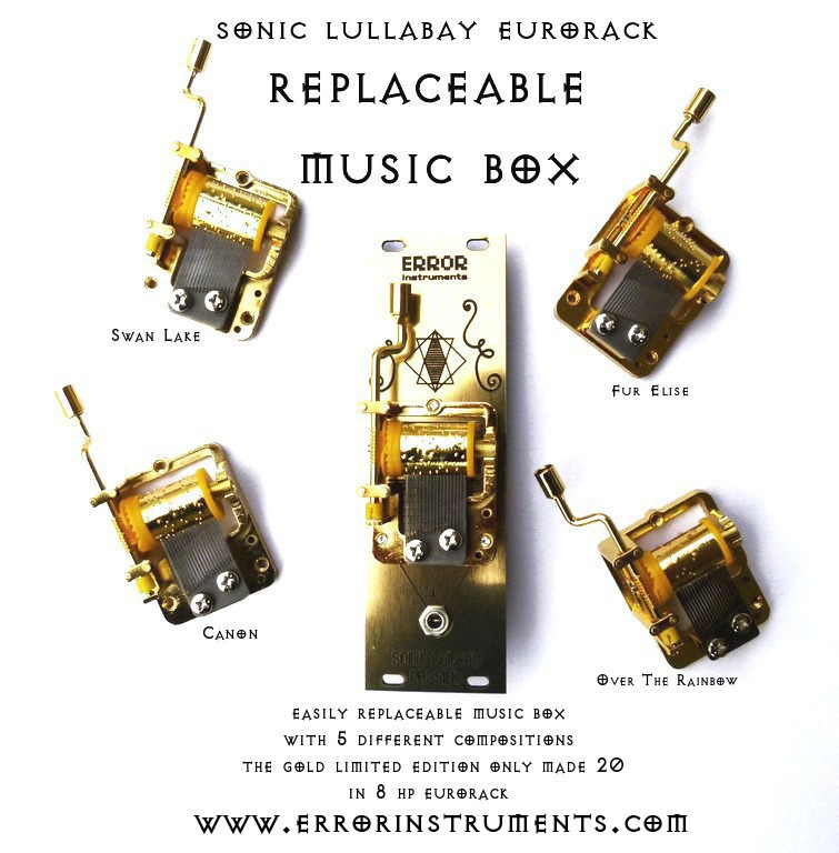sonic lulabay  GOLD SET replaceable music box