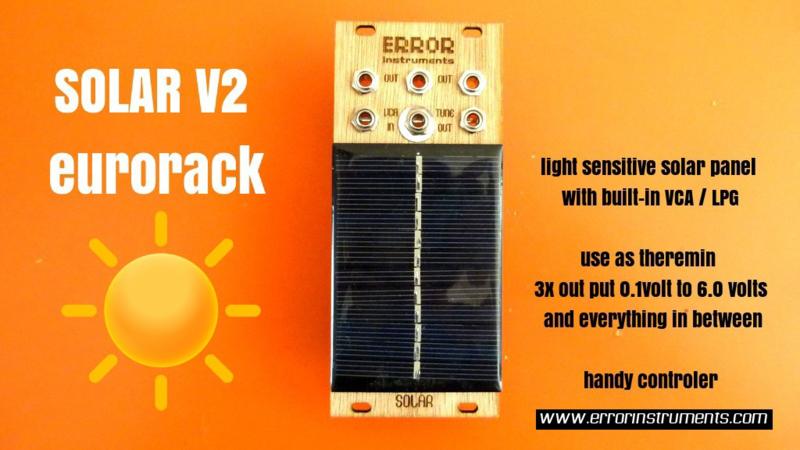 SOLAR v2 THEREMIN | ERROR-MODULAR | www errorinstruments com