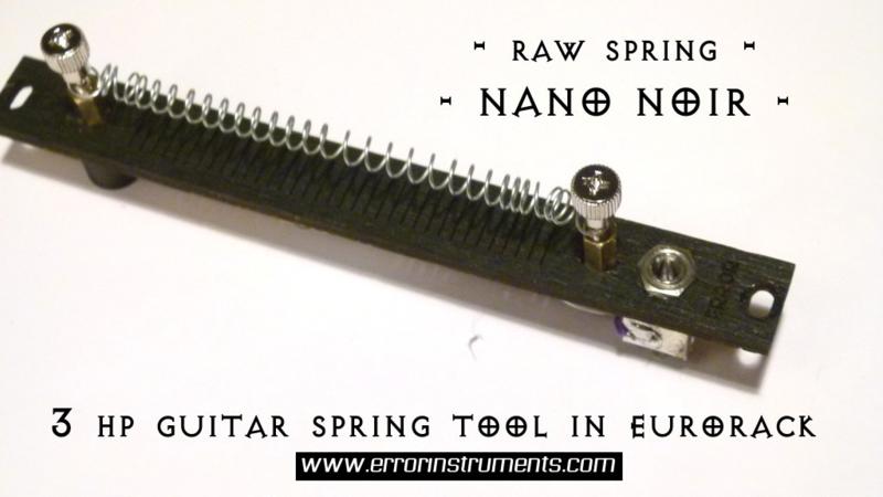 RAW SPRING NANO !!  noir