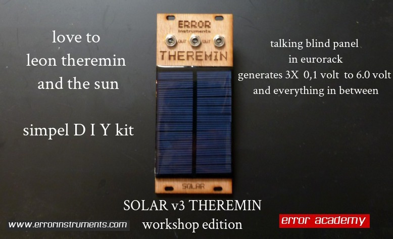SOLAR v3 THEREMIN DIY kit
