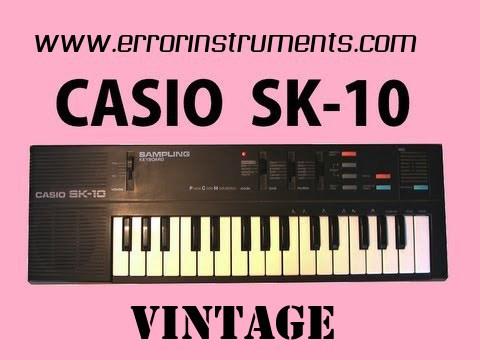 CASIO SK-10 Sampling Keyboard