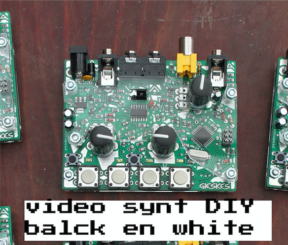 video synth black white diy kit