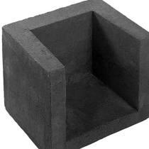 U-hoekelement | Zwart | 30x30x40 cm |