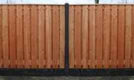 Tuinscherm 17 planks Douglas afm.180x180 cm recht