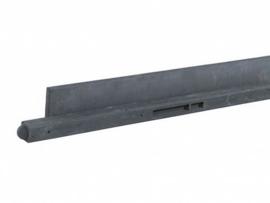 Betonpaal Zwart | 10x10x275 cm | met ronde kop