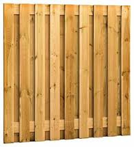 Tuinscherm 17 planks recht | Groen geïmpregneerd | 180x180 cm