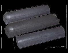 Stootbanden | Parkeerbanden | Grijs, 2x recht