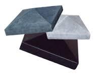 Paalmuts met punt 24x24 cm grijs
