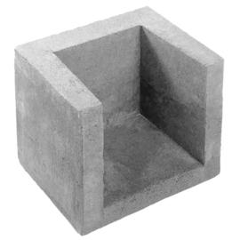 U-hoekelement | Grijs | 30x30x40 cm |