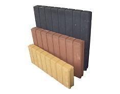 Blokjesband | Grijs 6x35x50 cm