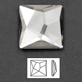 Swarovski® - S-2420 - 4 stuks Asymmetric-Square-Flat-Back 10,0 * 10,0 mm
