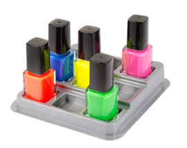 Display voor 9 nail art inkt flesjes