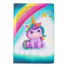 Crystal Art Notebook Unicorn smile