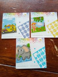 3 mini boekjes dieren, vervoer en seizoenen
