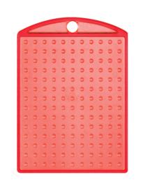 Medaillon transparant rood