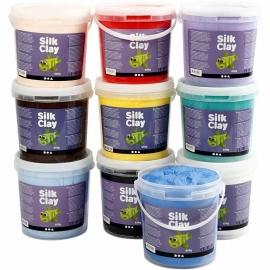 Silk Clay kleuren assorti 10x650 gram