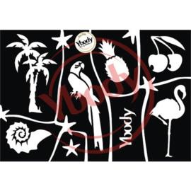 A5 Tropical stencil