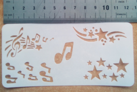 Muzieknoten en sterren
