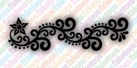 (138) Henna Floral Shortband