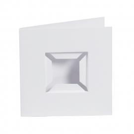 4 st. Passe-partout wit met inlegbox