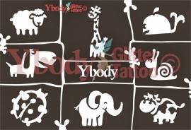 A5 Cute animals stencil