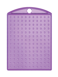 Medaillon transparant paars