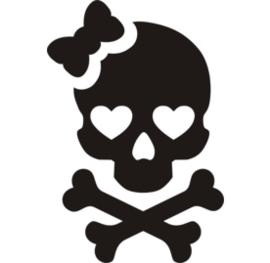 51101 Cute Skull