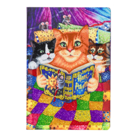 Crystal Art Notebook Kitten Bedtime