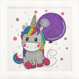 Crystal Art kinder frame Party Unicorn