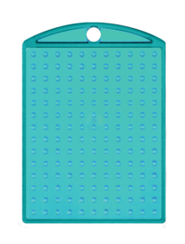 Medaillon transparant turquoise