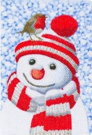 Crystal Art notebook Friendly Snowman