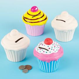 2 Cupcake spaarpotten van Keramiek