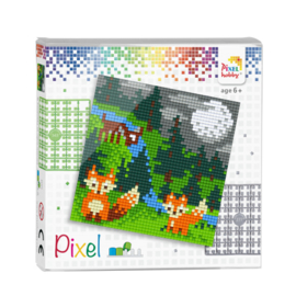 Pixel set In het bos