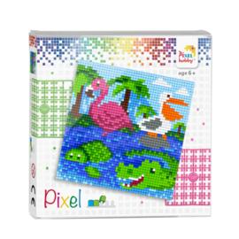 Pixel set Dieren aan het water