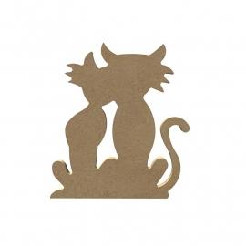Katten paar 6 mm dik, 15 cm