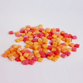 Colourful Squares mix  75 gram - Orange Peel