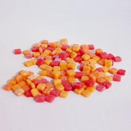 Colourful Squares mix  75 gram - Orange Peel