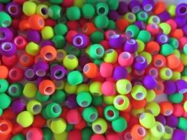 Neon kralen mix 50 stuks