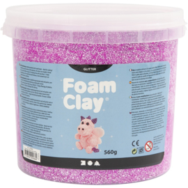 Foam clay glitter paars 560 gram