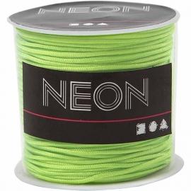 Macramé koord, 1 mm, neon groen, 28 m