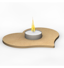 Waxinelicht hart 15 cm