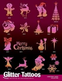 Kerstmis sjablonen 16 stuks