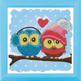 Crystal Art kinder frame  Cozy Owls