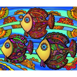 Vissen 2 Large 35x47 cm